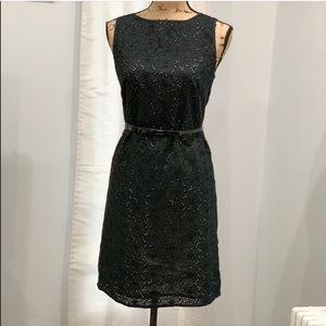 Ann Taylor Loft black lace overlay dress size 4